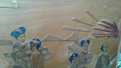 Chinese Antique Wood Inlay Art Painting