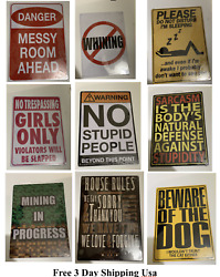 Hilarious Very Funny 8x12 Tin Signs Your Choice Free 3day Shipping Usa