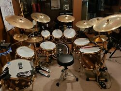 DW collectors series drum set drum kit! Once Owned by world known Band!!