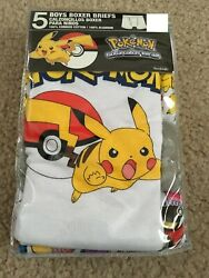 Pokemon Boys Boxer Briefs Size 4 2 Packs of 5 10 Pairs Total $12.99