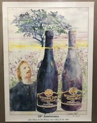 Witness Tree Winery Wine 10th Anniversary James Kirk Watercolor Poster Signed