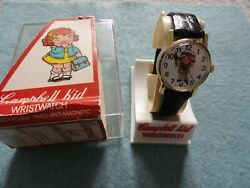 Vintage Mechanical Wind Up Swiss Made Campbell Kid Watch