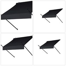 4 ft. Outdoor Black Retractable Awning Designer Manually Retracting in Ebony NEW
