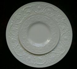 Wedgwood Patrician Plain Dinner And Bread Plate - Free U.s. Shipping