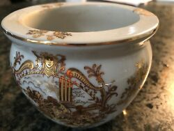Vintage Limoges Small Bowl. Gold And White Porcelain