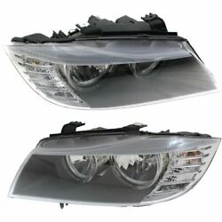 Halogen Headlight Set For 2009-2011 BMW 335i Left & Right w/ Bulbs Pair CAPA