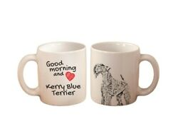 Kerry Blue Terrier Good morning and love High Quality Ceramic Mug Graphics CA