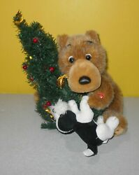 Musical House Of Lloyd Plush Christmas Bear Singing Who Let The Dogs Out