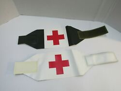 Vintage Swedish Red Cross Armband Medic First Aid Od White Reversible Nos Sweden