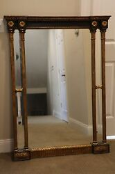Vintage M. Grieve Co Hand Carved Framed Mirror - Rare In Excellent Condition