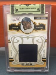 2008 Donruss Playoff Prime Cuts Colossal Jackie Robinson Patch Andrsquod 22