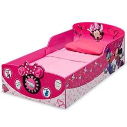 Minnie Mouse Bed Toddler Wood Safety Rail Kids Bedroom Childrens Girls Big Girl
