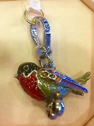 Nwot Rare Juicy Couture 2011 Red Robin Charm Htf Yjru5142