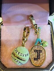 Juicy Couture Tennis Raquet Yjru0855 And Green Ball Yjru1529 Charms