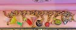 Juicy Couture 5 O'clock Somewhere Charm Bracelet With 6 Charms