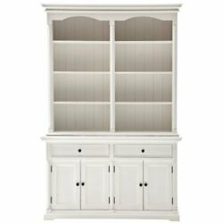 Beaumont Lane Storage Cabinet With Hutch In Pure White