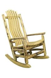 Outdoor Log Rocking Chairs Amish Made Rockers Lodge Cabin Style Furniture