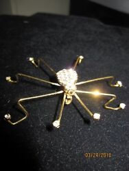 Vintage Style Large SPIDER Insect Rhinestone Crystal Jewelry BROOCH Pin