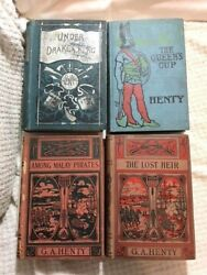G A Henty Antique Lot 4 Rare Books Titles Novels Early Editions Military