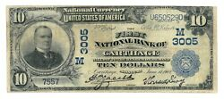 Carthage, Missouri Mo 10 National Bank Note, 1902 Lg Size, Blue Seal, Ch 3005