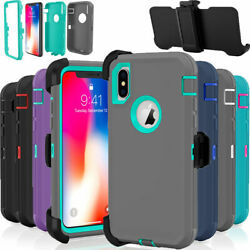 For Iphone Xr Case Cover Rugged Shockproof Belt Clip Fits Otterbox Defender Usa