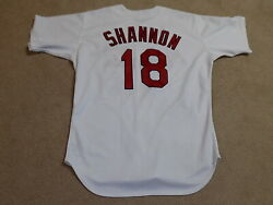 Mike Shannon Game Worn Signed Jersey 1999 St. Louis Cardinals