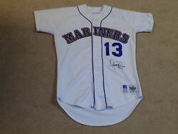 Omar Vizquel Game Worn Signed Rookie Jersey Seattle Mariners Indians Giants