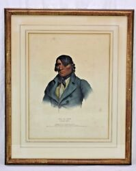 Mckenney And Hall,1838 Native American Indian Print- Sioux Chief Waa-pa-shaw