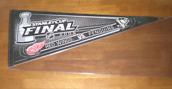 2009 Pittsburgh Penguins Vs Red Wings Dueling Stanley Cup Final Pennant - New