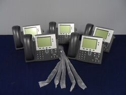 Cisco Cp-7942g 7942 Series Unified Voip Ip Business Office Phone Lot Of 5x Qty
