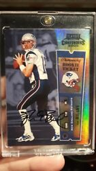 2000 Playoff Contenders Championship Ticket Tom Brady RC AUTO #100 - RARE!!!