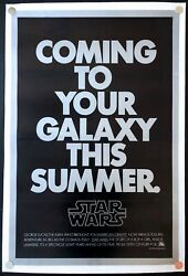 Star Wars 1977 Original Movie Poster Second Advance Linen Backed (27