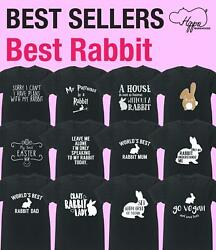 Best Rabbit t-shirt Funny Gift Present Novelty Animal Pet Bunny Lover Wild Fur