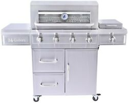 Propane Gas Grill 4-burner Stainless Steel With Radiant Embers Cooking System