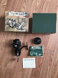 Vintage Mitchell 440a Lightining Cast Spinning Reel In Box With Papers Unused