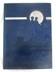 1944 Yearbook Hornell High School Albany New York Maple Leafs Blue Hardcover