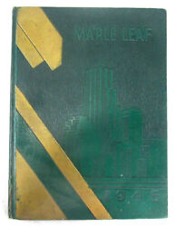 1945 Yearbook Hornell High School Albany New York Maple Leaf Green Hardcover