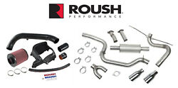 2013-2018 Ford Focus St Roush Cat Back Exhaust And Cold Air Engine Intake Kit