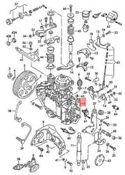 Genuine Volkswagen Injection Pump With Controller Nos 068130108f