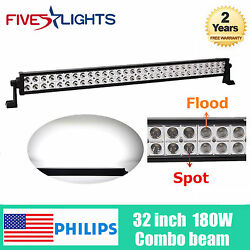 New 32inch 180w S/f Combo Led Light Bar Vehicle Roof Ford Suv Rzr Tractor 24/46