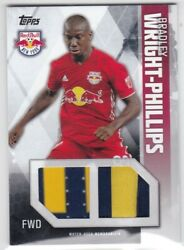 Bradley Wright-phillips 2019 Topps Mls Dual Jersey Patch 072/215 New York