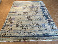 8and0392 X 10and0395 Hand Knotted Wool And Silk Multicolored Fine Modern Oriental Rug G3557