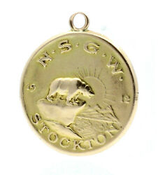 Nsgw Native Sons Of The Golden West 14k Gold 1912 Stockton Junior Barge Medal