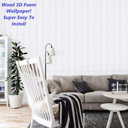 10sqft And More 3d Wood Foam Wallpaper Ceiling Home Decor Wall Panel Tiles Panels
