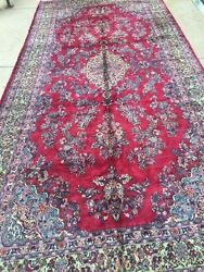 9and039 X 19and039 Turkish Oriental Rug - 1960s - Full Pile - Hand Made - 100 Wool