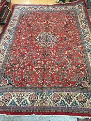 10and0395 X 14and039 Traditional Turkish Oriental Rug - 1950s - Hand Made - Full Pile