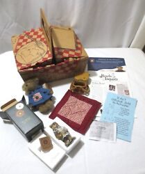 Boyds Bears Frolickin Collectors Club Picnic Basket Kit 2002 Collectible