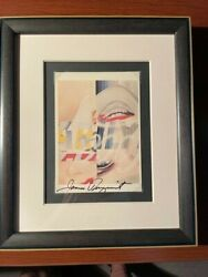 James Rosenquist Hand Signed Offset Lithograph Of Marilyn Monroe 1 1962