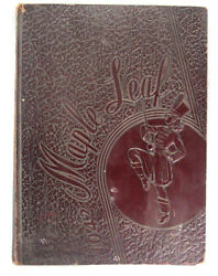 1942 Yearbook Hornell High School Albany New York Maple Leafs Maroon Cover