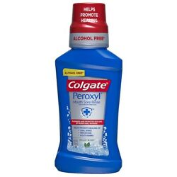 Colgate Peroxyl Mouth Sore Rinse Mild Mint - 500mL 16.9 oz *FREE SHIPPING!